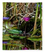 Heat Of The Afternoon - Down At The Lily Pond Iv Fleece Blanket