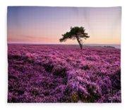 Heather At Sunset Fleece Blanket