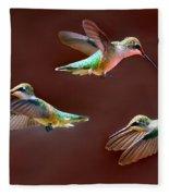 Heavenly Birds Fleece Blanket