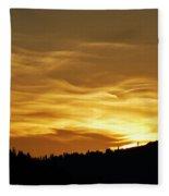 Heavenly Gold Sunset Fleece Blanket