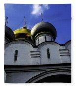 Heavenly Look - Moscow - Russia Fleece Blanket