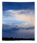 Heavenly Winter Blues Fleece Blanket