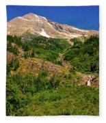 Heavens Peak Glacier International Peace Park Fleece Blanket