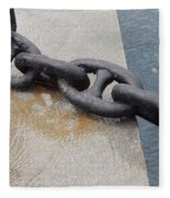 Heavy Duty Anchor Chain Fleece Blanket