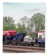 Heavy Lift 1m Pound Capacity Schnabel Train Set By Emmert International Fleece Blanket