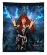 Heavy Metal Fashion. Sofia Metal Queen. Blue Fire Storm. The Power Fleece Blanket