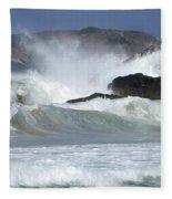 Heavy Surf Action Fernando De Noronha Brazil 1 Fleece Blanket