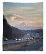 Heavy Traffic Stalls Interstate 5 Fleece Blanket
