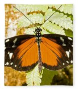 Hecale Longwing Butterfly Heliconius Fleece Blanket