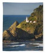 Heceta Head Lighthouse - Sunny Fleece Blanket