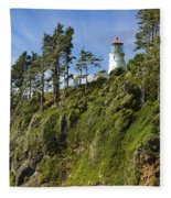 Heceta Head Lighthouse 1 A Fleece Blanket