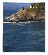 Heceta Head Lighthouse 2 D Fleece Blanket