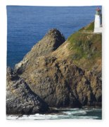 Heceta Head Lighthouse 2 F Fleece Blanket
