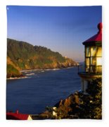Heceta Head Moonrise Fleece Blanket