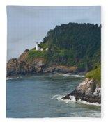 Heceta Head Overlooking The Pacific Ocean Fleece Blanket