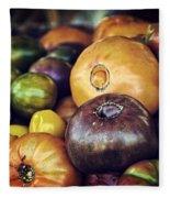 Heirloom Tomatoes At The Farmers Market Fleece Blanket