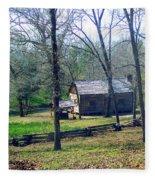 Helen Lee's Pioneer Log Cabin Fleece Blanket