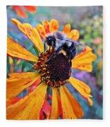Helenium Bumble Bee Fleece Blanket