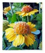 Helenium Flowers 1 Fleece Blanket