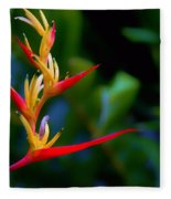 Heliconia -parrot's Beak I Fleece Blanket