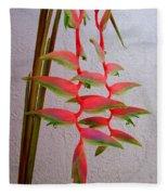 Heliconia Platystachys Fleece Blanket