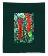 Heliconia Rostrata Fleece Blanket