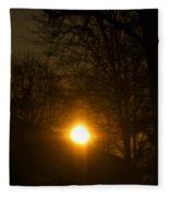 Hello Springtime Sunrise Fleece Blanket