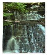 Hells Hollow Falls Fleece Blanket
