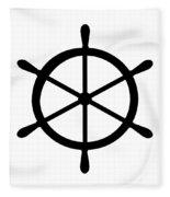 Helm In Black And White Fleece Blanket