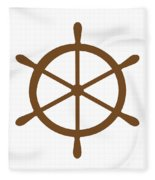 Helm In Brown And White Fleece Blanket