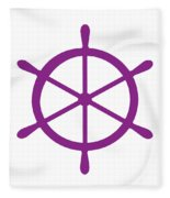 Helm In Purple And White Fleece Blanket