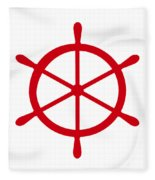 Helm In Red And White Fleece Blanket