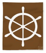 Helm In White And Brown Fleece Blanket
