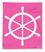 Helm In White And Pink Fleece Blanket