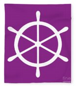 Helm In White And Purple Fleece Blanket