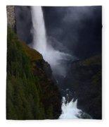 Helmcken Falls 3 Fleece Blanket