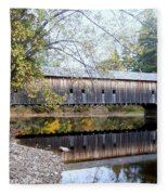 Hemlock Covered Bridge Fleece Blanket