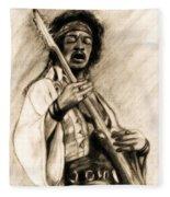 Hendrix-antique Tint Version Fleece Blanket