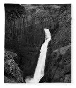 Hengifoss Waterfall Fleece Blanket