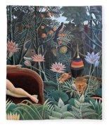 Henri Rousseau The Dream 1910 Fleece Blanket