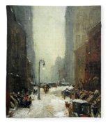 Henri's Snow In New York Fleece Blanket