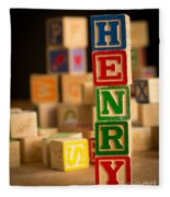 Henry - Alphabet Blocks Fleece Blanket
