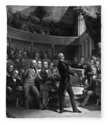 Henry Clay Speaking In The Senate Fleece Blanket