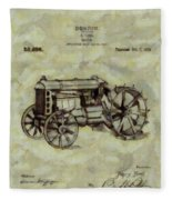 Henry Ford Tractor Patent Fleece Blanket