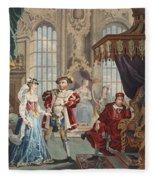 Henry Viii And Anne Boleyn Fleece Blanket