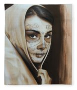 Hepburn De Los Muertos Fleece Blanket