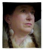 Her Hat And Fur Fleece Blanket