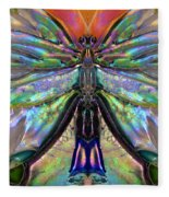 Her Heart Has Wings - Spiritual Art By Sharon Cummings Fleece Blanket