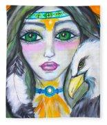 Her Journey Fleece Blanket