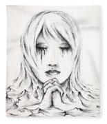 Her Prayers Fleece Blanket